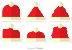 Platte kerstmuts vector pack