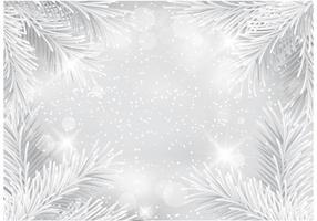 Gratis Zilveren Glitter Kerstmis Vector Achtergrond