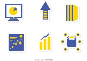 Grote data management iconen vector pack 2