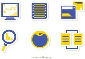 Grote data management iconen vector pack 1