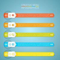zakelijke multi-color pijl banner infographic