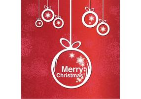 Vrolijke Kerst Ornament Achtergrond