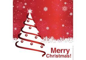 Vrolijke Kerstboom Achtergrond vector