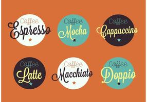 Vintage espresso badges