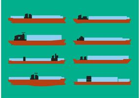 Containerschip Vector Set