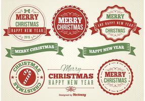 Kerst Labels vector