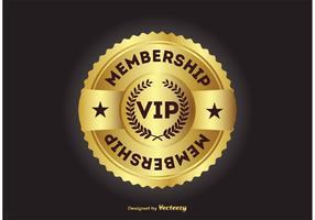 Vip lidmaatschap badge vector