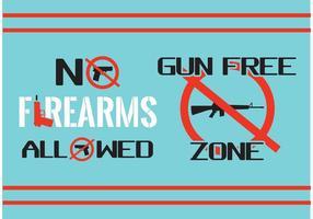 Geen wapens ondertekenen vectoren