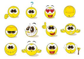 Gratis Smiley Emoticon Vector Set