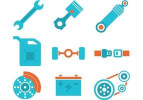 Kleurrijke zuiger motor pictogrammen