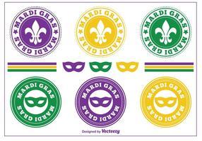 Mardi Gras Postzegels / Badges vector