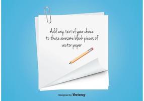 Leeg notitiepapier vector