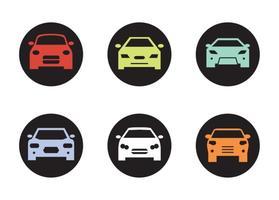 Zwarte Auto Voor Silhouetten vector