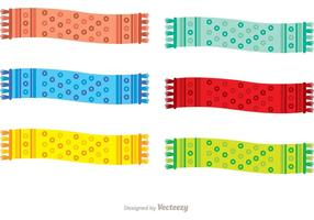 Polka Dot Neck Sjaal Vector Pack