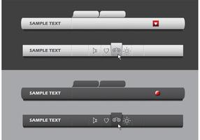 Vector menu bar set