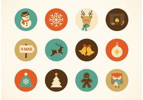 Gratis Hipster Kerstmis Vector Pictogrammen