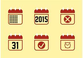 Kalenderio 2015 iconen vector