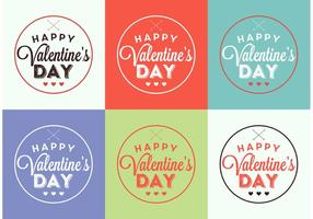 Valentijnskaartkaarten vector