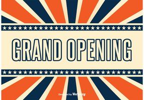 Grand Opening Retro Style Achtergrond