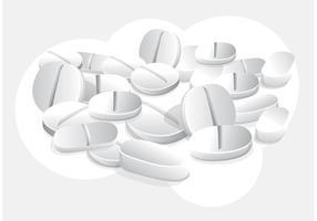 Witte Pillen Vector Behang