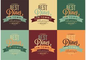 Beste 50's Diner Typografische Tekens vector
