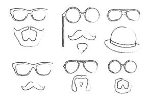 Schetsmatig hipster vectorpakket