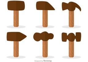 Hammer Flat Design Pictogrammen Vector Pack