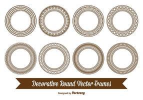 Decoratieve Ronde Frames vector