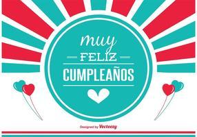 Spaanse Verjaardagskaart vector
