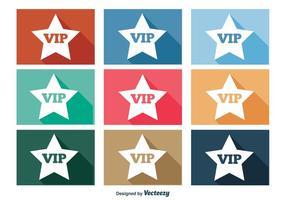 Vip icon set vector