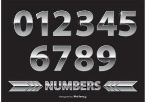 Chrome / Metalen cijfers vector