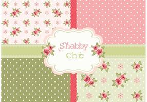 Gratis Vector Shabby Chic Rozenpatronen