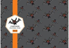 Gratis Cartoon Flying Fox Vector Patroon