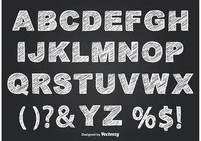 Krijtstijl Alfabet vector