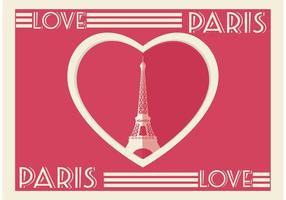 Parijs Hart Kaart