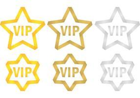 VIP-sterren vector