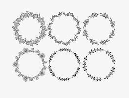 Decoratieve Bloemenramen vector