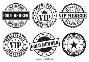 Vip retro vector badges