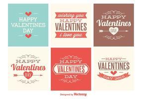 Leuke Mini Valentijnskaartkaarten vector