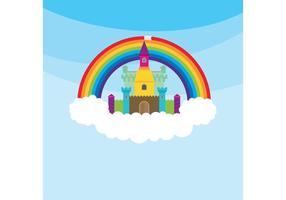 Prinses Kasteel & Regenboog vector