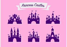 Prettige Prinses Kasteel Vector Set