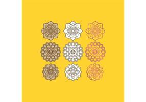 Indiase ontwerpen vector