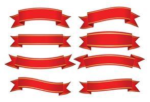 Rode Decoratieve Banners vector