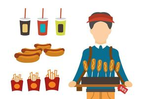 Fast food producten vector