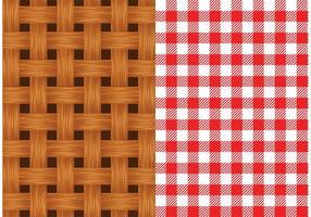 Gratis Vector Oude Rieten Mand Textuur