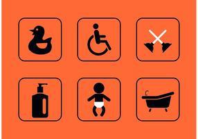 Teal Rest Room Vector Pictogrammen