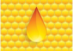 Gratis Vector Honingdruppel