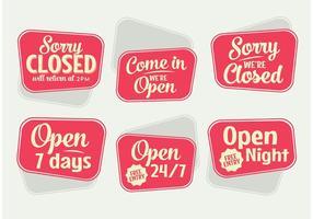 Retro open teken vectoren