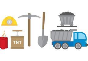 Mijnbouw Pictogrammen vector