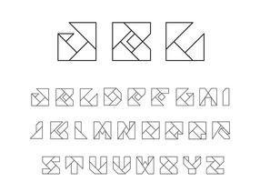 Origami Alfabet Vectoren
